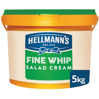 Hellmann's Fine Whip Salad Cream 5kg - Hellmann's Fine Whip gives your toasted sandwiches the boost they need.