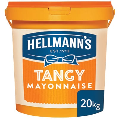 Hellmann's Tangy Mayonnaise 20kg - Our mayonnaise keeps salads looking and tasting fresher for longer.