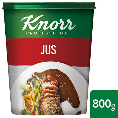 Knorr Professional Jus - Knorr Professional Jus delivers a rich flavour of caramelised beef, marrow and roasted onion, made in just 12 minutes.