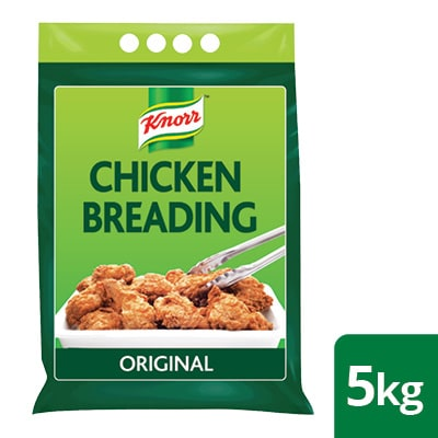 Knorr Professional Original Chicken Breading 5KG - Our chicken breading clings with just water for tasty, crispy  fried chicken.