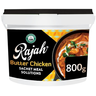 Robertsons Rajah Butter Chicken - Here's a pre-portioned sachet meal solution to help you make delicious world-cuisine-inspired dishes in 3 easy steps.