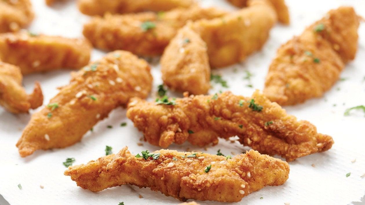 Sesame Seed Breaded Chicken Strips