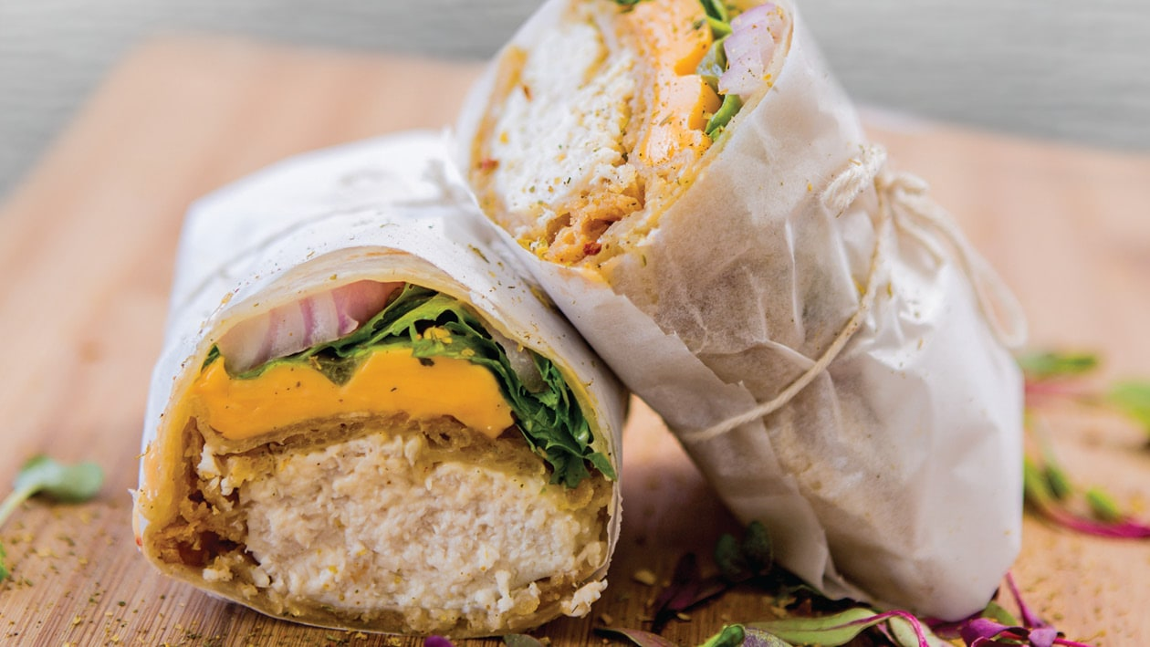 Toasted Battered Chicken Sweet Chilli Mayo Wrap
