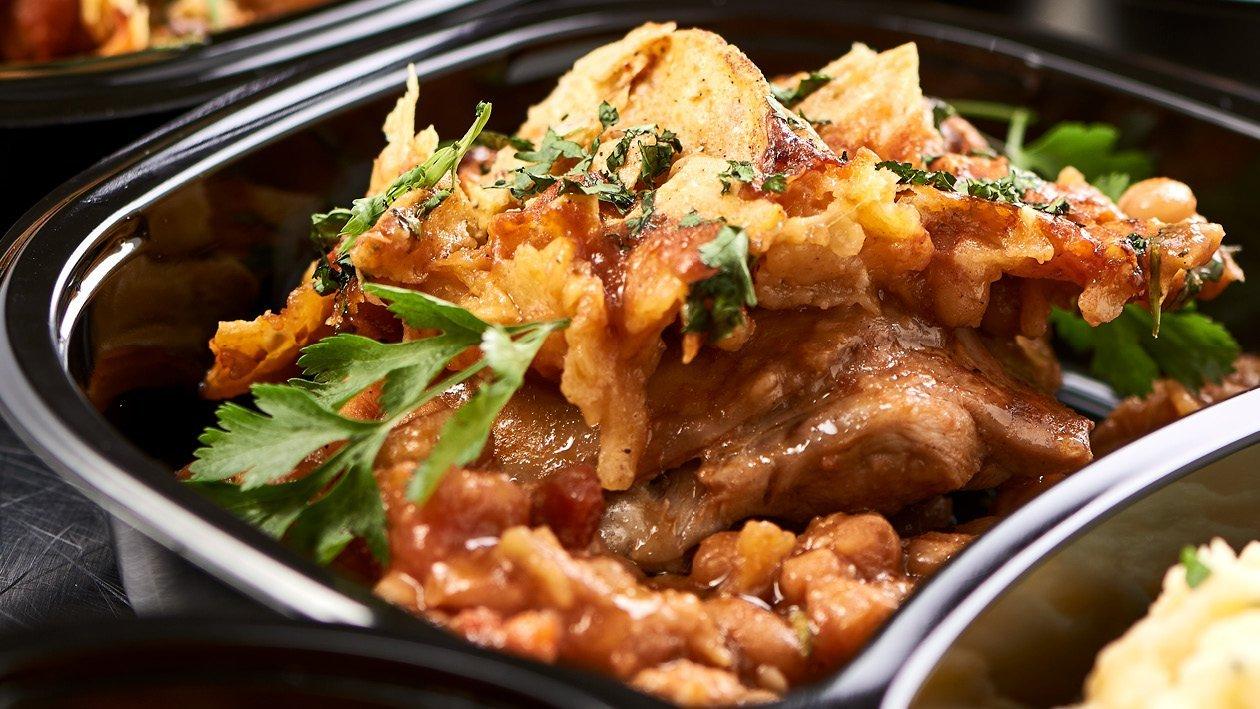 Hearty Sweet Potato, Mung Bean and Chicken Stew