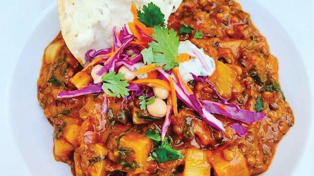 Sweet Potato, Butternut, Kale & Lentil Coconut Curry