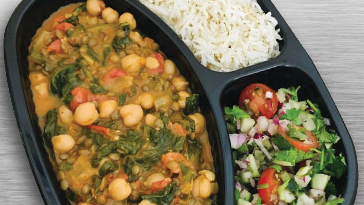 Spicy Coconut, Chickpea, Lentil & Baby Spinach