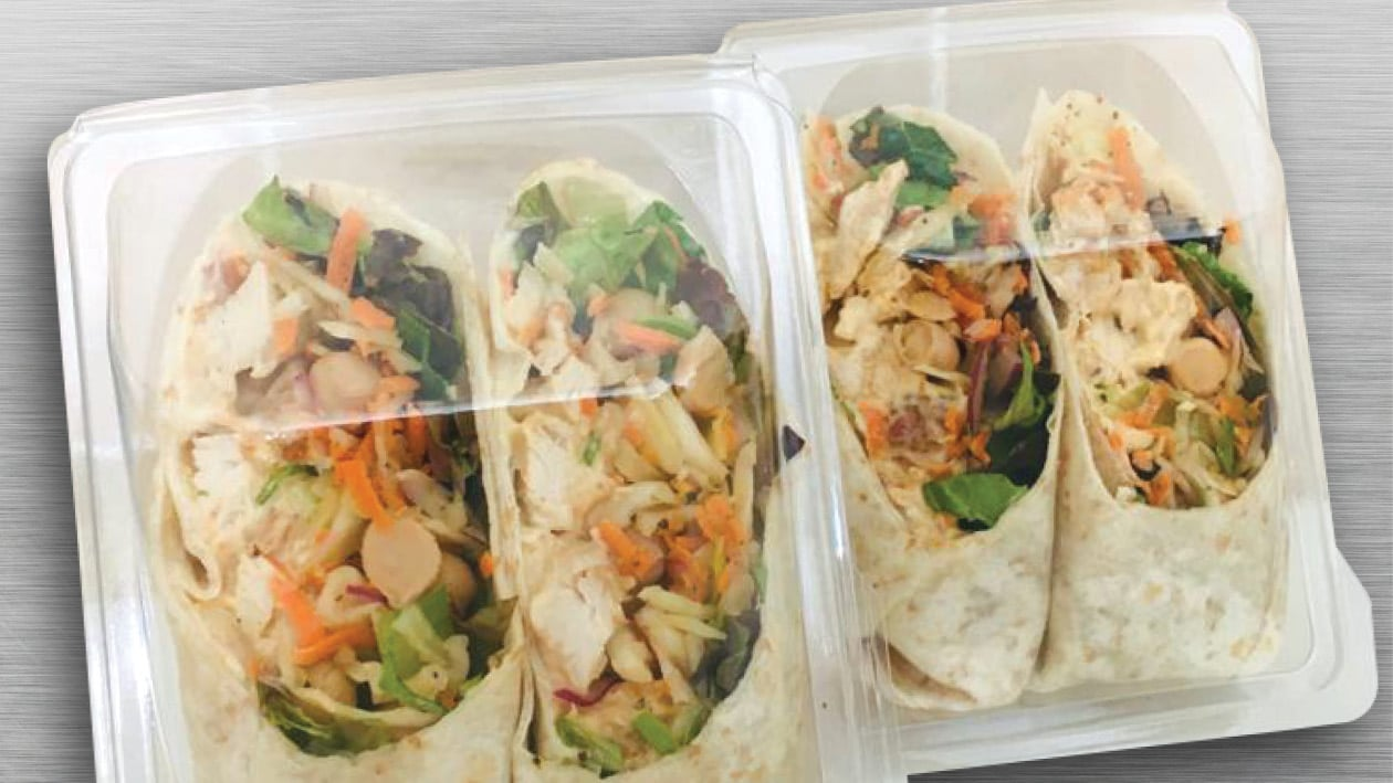 Wrapped Coleslaw  & Chicken