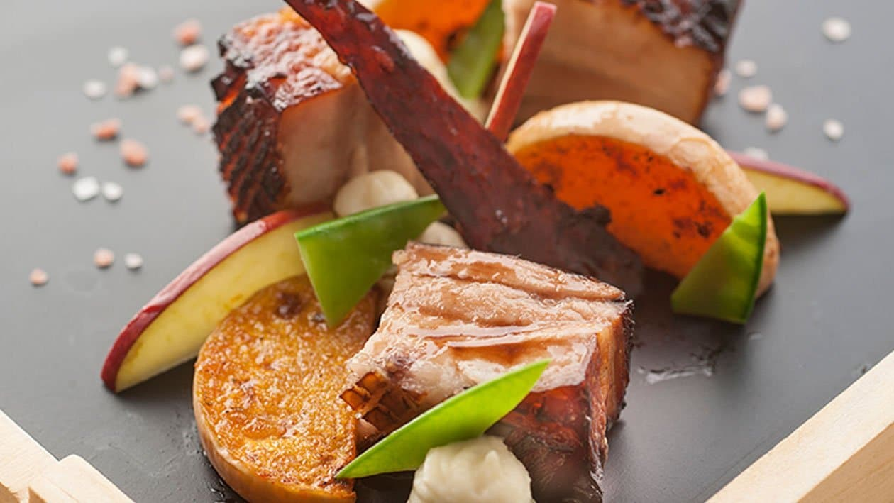 Slow Cooked Belly Pork with Roasted Butternut