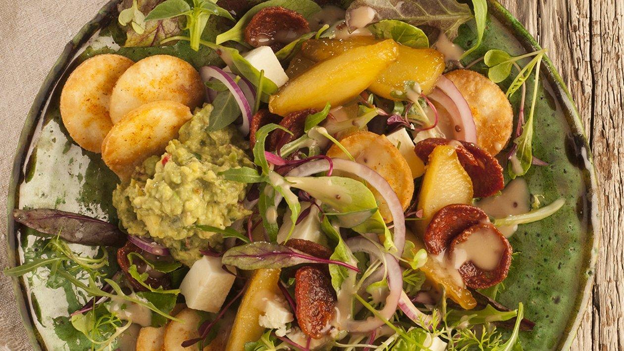 Crispy Chorizo, Avocado and Feta Salad
